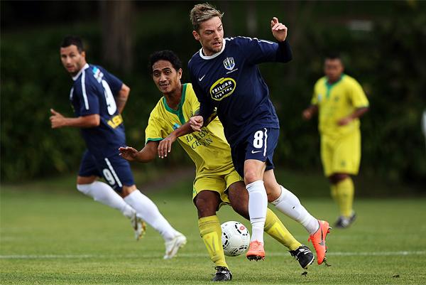 Tefana no tuvo fuerzas para evitar que Auckland City obtuviera su cuarto título en la OFC (Foto: AFP)