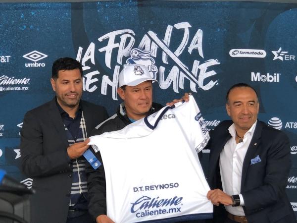 Reynoso presentado como nuevo DT del Puebla. (Foto: Prensa Puebla FC)