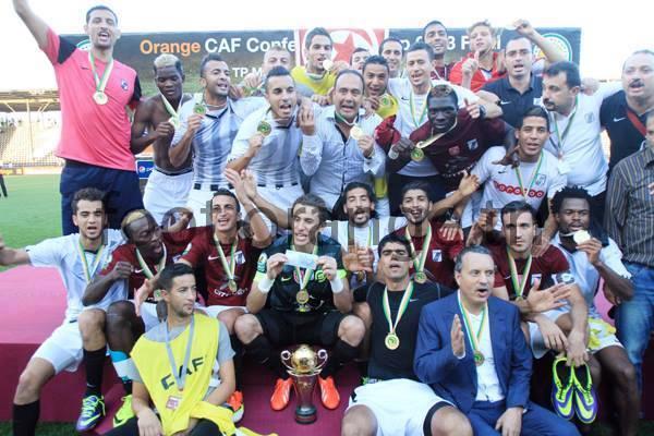 Pese a jugar de visita y perder, los tunecinos del Sfaxien festejaron el título sobre Mazembe (Foto: Facebook)