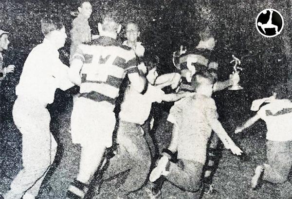 La felicidad de Flamengo en 1959, luego de obtener el hexagonal. ¿Cómo influyó en el desarrollo de la Copa Libertadores? (Recorte: diario La Crónica)