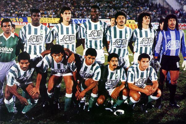 Formación de Atlético Nacional en el partido de ida de la final ante Olimpia (Foto: pasionlibertadores.com)