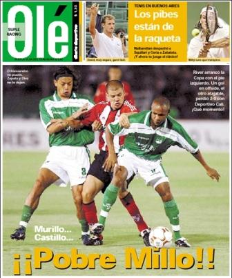 Portada del diario Olé la vez que River cayó en un debut copero ante Deportivo Cali (Imagen: ole.com.ar)