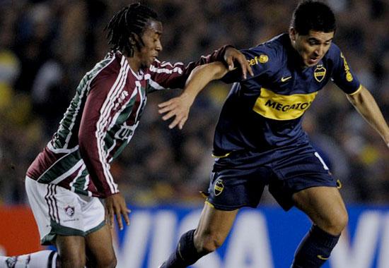 Riquelme, con dos tantos, volvió a ser el elemento más desequilibrante de Boca (Foto: AFP)
