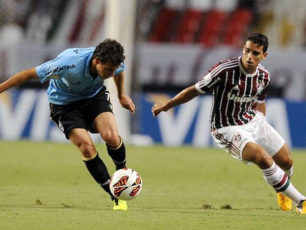 Fluminense fue irregular en la fase de grupos y por eso no es amplio favorito para eliminar a Emelec. Gremio puede superar a Santa Fe más por el aspecto físico (Foto: AFP)