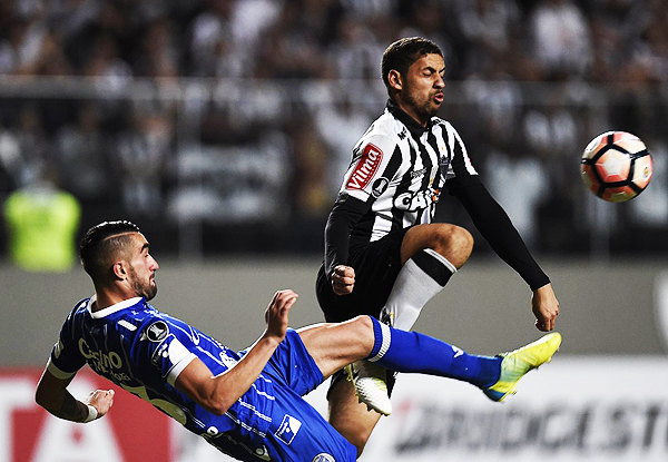 Atlético Mineiro aplastó a Godoy Cruz. Los brasileños se colocaron como líderes del grupo 6. (Foto: AFP)