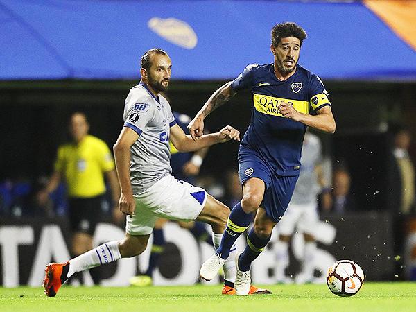 Pablo Pérez destacó en la volante de Boca. (Foto: Conmebol)