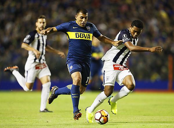 Ramón 'Wanchope' Ábila anotó un doblete en el triunfo de Boca. (Foto: Prensa Boca Juniors)