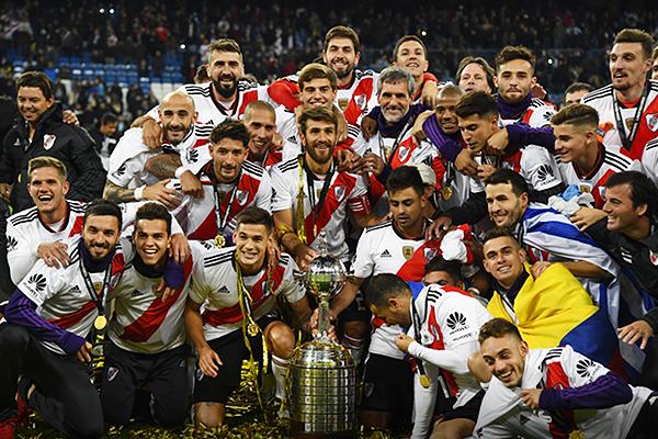 River celebró en el Santiago Bernabéu. El cuadro de Marcelo Gallardo es el campeón de la Libertadores 2018. (Foto: Conmebol)