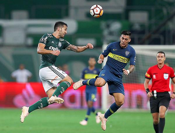 Aunque Palmeiras le pudo algo de emoción, Boca era consciente que con los tantos de visita era suficiente para ir a la final. (Foto: AFP)