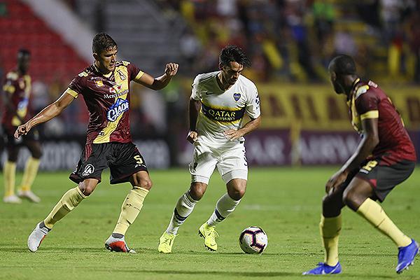 Vásquez no le da espacio a Mas. (Foto: Prensa Boca Juniors)