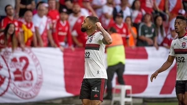 Gabriel Barbosa gritó el gol con el alma sin resquemores por su pasado en Internacional. (Foto: UOL)