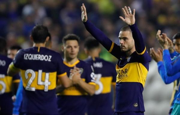 Nández jugó su último partido con Boca y se fue ovacionado por todo el estadio. (Foto: diario Olé)