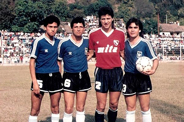 Pedro Monzón, recordado por la roja en la final de Italia 90 y su paso posterior por Alianza, era gran figura de Independiente (Foto: independientecrece.blogspot.com)