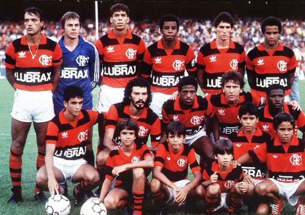 Equipo de Flamengo en 1986. (Foto: livroanacao.blogspot.com)
