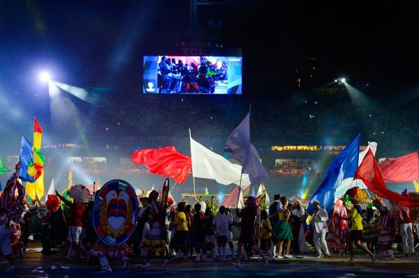 El 'Morumbí' se engalanó para recibir la fiesta de América. (Foto: Prensa Copa América)