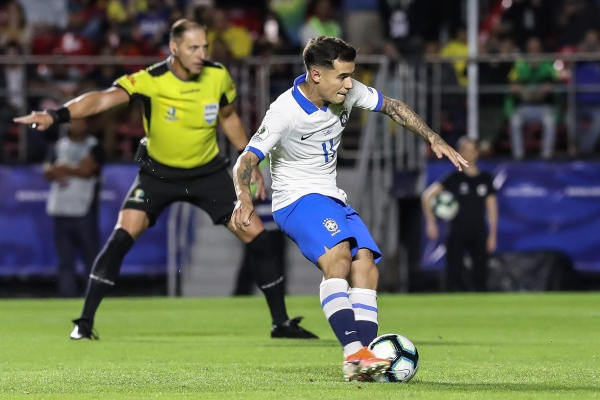 Coutinho marcó de penal el primer gol de la Copa América. (Foto: Prensa Copa América)