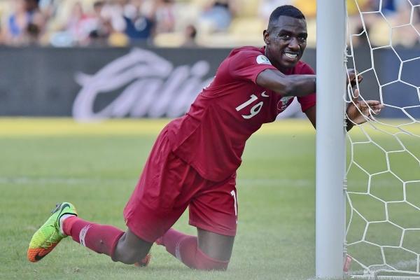 Ali Almoez se mantuvo siempre cerca del arco y terminó celebrando. (Foto: Prensa Copa América)