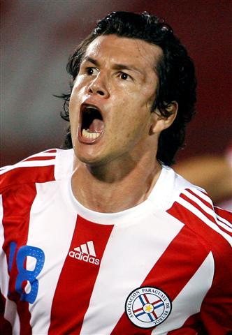 Haedo convirtió el primer tanto de la goleada paraguaya (Foto: EFE)