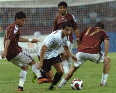 Alexis Sánchez supera la marca de Jorge Rojas. Chile se hizo sentir en Puerto La Cruz (Foto: EFE)
