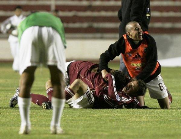 Bolivia exhibió una de sus peores caras ante Venezuela cuando perdió en 2009 (Foto: EFE)