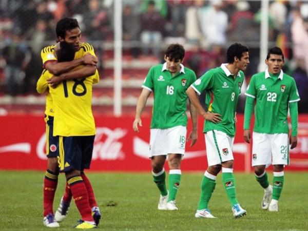 Celebración de Colombia tras un gol sobre Bolivia en su triunfo de 2011 (Foto: Reuters)