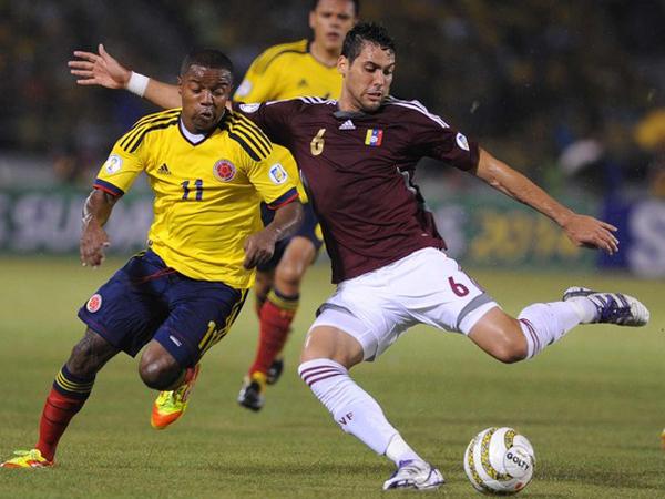 Colombia y Venezuela, las dos selecciones a las que Perú debe ganar sí o sí durante el proceso eliminatorio en 2011 (Foto: AFP)