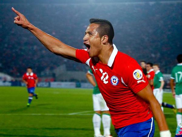 El partido resultó propicio para que Alexis Sánchez marcara con su selección ante un rival como Bolivia que llegó condicionado por los resultados (Foto: Agencia Uno)