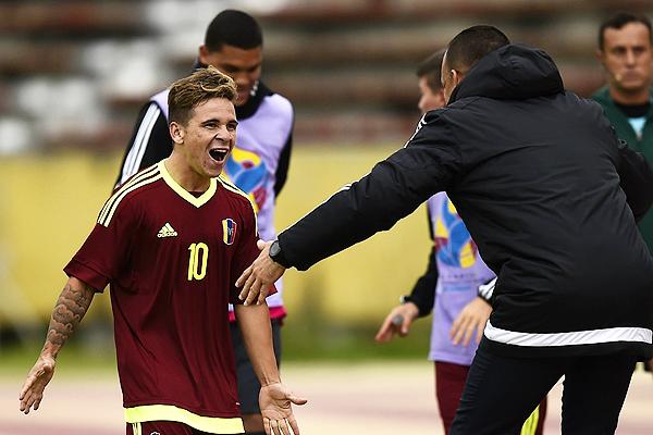 Yeferson Soteldo, uno de los jugadores jóvenes más prometedores de Venezuela. Rafael Dudamel le dio la confianza para ser una de las principales alternativas en la 'Vinotinto' (Foto: AFP)