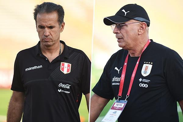 Silvestri y Garay movieron las piezas en el entretiempo, aunque a ninguno le resultó tan bien. (Foto: Álex Melgarejo / DeChalaca.com)