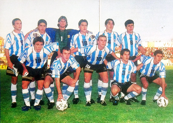 Una Sub-20 argentina, la de 1997, con notable suceso en el fútbol sudamericano.