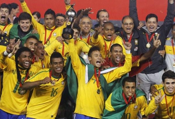 LO TIENEN MERECIDO. Más allá de la derrota sufrida a manos de Argentina, Brasil demostró que es un digno campeón juvenil. (Foto: AP)