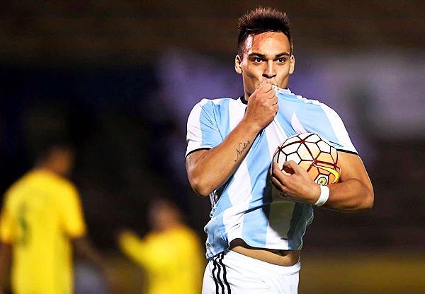 El argentino Lautaro Martínez fue uno de los cuatro goleadores del Sudamericano Sub-20. (Foto: Reuters)