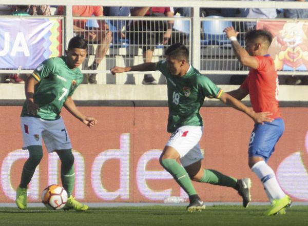 Adalid Terrazas enfrenta la marca de Nicolás Díaz. (Foto: Aldo Ramírez, enviado especial a Rancagua)