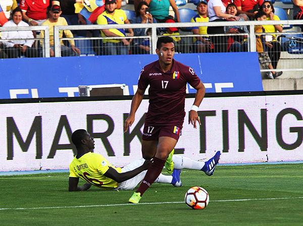 Junior Paredes no fue capaz de levantar a Venezuela en el momento complicado. (Foto: Conmebol)