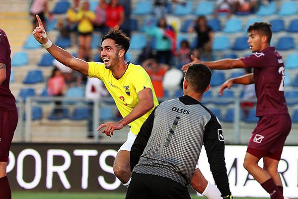 Leonardo Campana y la alegría del gol y la clasificación al Mundial. (Foto: Conmebol)