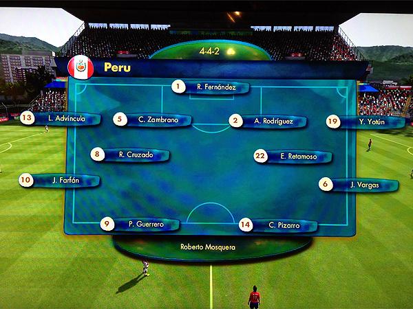 Un once base de la selección peruana con los principales jugadores de las últimas Eliminatorias (Captura: EASports)