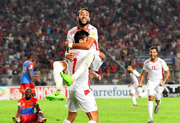 Túnez obtuvo su clasificación con una cuota de angustia y derrotando a un durísimo RD Congo. (Foto: AFP)