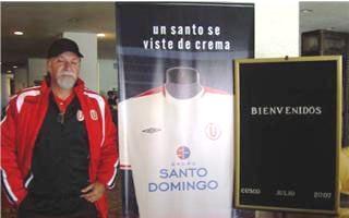 Gómez, aún con barba. el día de su presentación oficial (Foto: Universitario de Deportes)